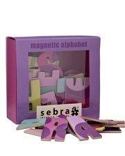 Sebra Magneter - bogstaver lilla