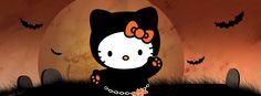 Hello Kitty! Cute Halloween Facebook Covers