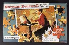 Norman Rockwell Jigsaw Puzzle 500 pc 18x11 Boy Reading Sears Catalogue 1920 1930 #GreenbrierInternational