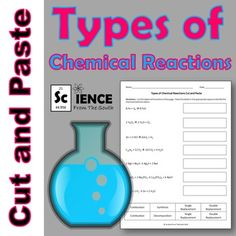 Use this download for pre-assessing, review, or assessing your students' understanding of the various types of chemical reactions including synthesis, combustion, decomposition, single replacement, and double replacement. No prep required. Just print, copy, and you're ready to go.