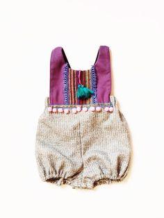 Festive tweed romper (sizes 9-12m- 3/4T)