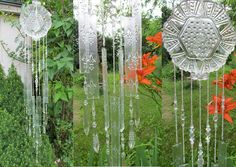 Glass Wind Chime Handmade form Stained Glass and Crystals. $129.00, via Etsy.