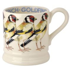 """Birds"" Goldfinch 1/2 Pint #Mug 2014 at Emma Bridgewaterhttps://www.emmabridgewater.co.uk/invt/1bir230002"