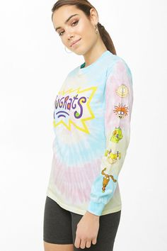 Product Name:Tie-Dye Rugrats Top, Category:top_blouses, Rugrats, Tees For Women, Clothes For Women, Juniors Graphic Tees, Forever 21, Tie Dye, Tween Fashion, Cute Tshirts, Summer Shirts