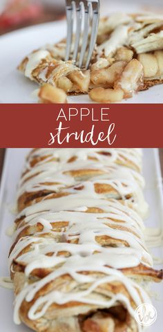Apple Strudel at home with this delicious and easy recipe. - Make Apple Strudel at home with this delicious and easy recipe. via Make Apple Strudel at home with this delicious and easy recipe. via Try this simple, yet scrumptious, Cinnamon Fri. New Year's Desserts, Apple Dessert Recipes, Delicious Desserts, Cooking Apple Recipes, Apple Recipes Easy, Chocolate Desserts, Holiday Recipes, Oreo Dessert, Home Baking