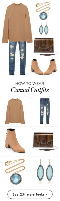 """Casual Wear"" by karen-galves on Polyvore featuring Hollister Co., The Row and dafné"