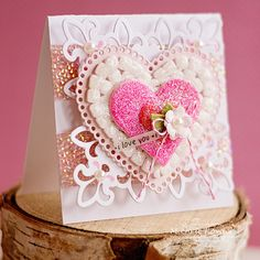 Valentine's Card using adhesive as an interesting design element! @SBAdhesivesby3L @SRM