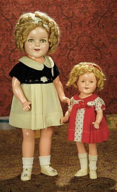 """The Memory of All That - Marquis Antique Doll Auction: 290 American Composition """"Shirley Temple"""" Doll in Costume from the Film """"Captain January"""""""