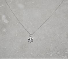 Snowflake Necklace, Frozen Necklace, Gift For A Girl, 925 Silver Necklace, Gift For A Cause, Gift For Niece, Free Pearl, Etsy Match