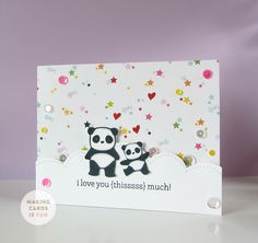 """In today's video, I'm using the """"Pandamonium"""" stamp set from Mama Elephant along with other fun and colorful goodies."""