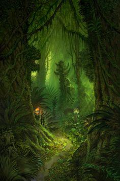 ::the jungle reclaims all::   Jonathan Kirtz - Warhammer Online - Lustrian Jungle.png