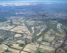 Aerial view of Schiphol Amsterdam Airport, the Netherlands (EHAM) - via PJ de Jong