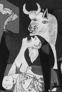 "Supposedly Pablo once said, ""good artists borrow, great artists steal"". In that vein I'm stealing Roxy's Guernica photos. Pablo Picasso, Picasso Guernica, Art Picasso, Picasso Drawing, Painting & Drawing, L'art Du Portrait, Protest Art, Art Thou, Famous Art"