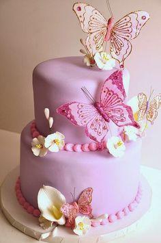 Tortas Decoradas de Mariposas : Fiestas Infantiles Decoracion