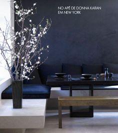 black wall + donna karan apartment