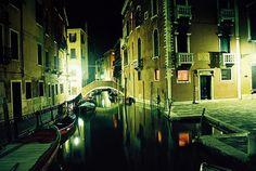 Venice gondola ride by night.  Cuddle up.