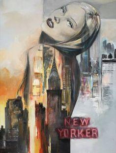 "Saatchi Art Artist Arno Bruse; Painting, ""New York Heartbeat"" #http://www.saatchiart.com/smart.art"