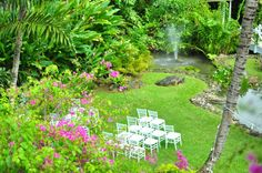 Could you see yourself getting married here, amongst all this natural beauty? The wedding garden, Sandals Negril, Jamaica.