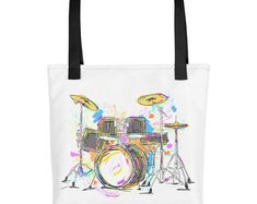 Music For Little Learners by Drum Stick Bag, Drummer Gifts, Little Learners, Trumpet, Drums, Reusable Tote Bags, Passion, Music, Shirts