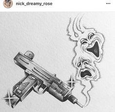 Art Chicano, Chicano Style Tattoo, Chicano Drawings, Chicano Tattoos, Skull Tattoo Design, Tattoo Design Drawings, Tattoo Sketches, Gangsta Tattoos, Clown Tattoo