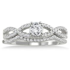 Diamond Bridal Set White Gold..... Love love love this !!!!!!!!!