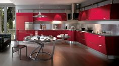 30 Modelli di Cucine Rosse dal Design Moderno   Cucina, Modern ...