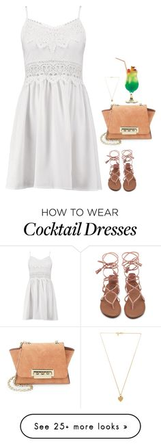 """#6682"" by azaliyan on Polyvore featuring Boohoo, ZAC Zac Posen and Vanessa Mooney"