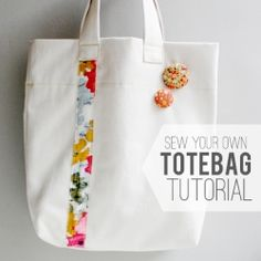 Have a Resolution to learn to sew? This simple sew your own Tote Bag Tutorial is perfect for all levels of sewers.