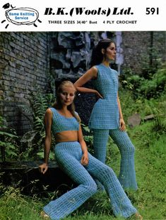 Vintage Ladies Trouser Suit Crochet Pattern 1960 by LittleJohn2003, $3.00