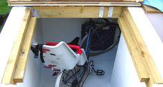Underground storage in garage or garden?