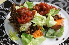 """Meatless Monday: Mexican """"Baked"""" Sweet Potato - To Live & Diet in LA"""