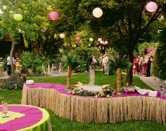 "A more ""tasteful"" tropical party decor.  I always want to do a tropical party in the summer!"