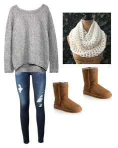 """""""Untitled #3"""" by ninasoccermoore-1 on Polyvore featuring UGG Australia and AG Adriano Goldschmied"""