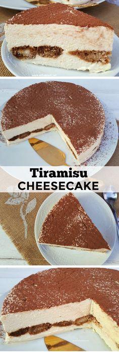 Most decadent ! The creamiest No-Bake Tiramisu Cheesecake ever and requires the minimum prepping ! #NoBake #Tiramisu #Cheesecake
