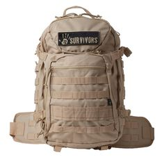 12 Survivors Tactical Backpack Tan