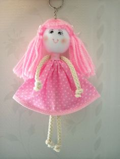Artesanatos Virtual: Chaveiro boneca de pano