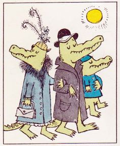 """""""Alligators All Around: An Alphabet"""" from """"The Nutshell Library"""" written & illustrated by Maurice Sendak, 1962"""