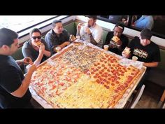 """Team Wreckless Eating Vs. Team Competitive Eaters in Big Mama's 54"""" Giant Sicilian Pizza Challenge!"""
