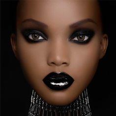 Photo maquillage yeux peau noire vidéo