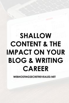 Is Content going shallow in 2016? What could be the impact?