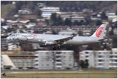 Niki Airbus A321 OE-LET. Landing at Innsbruck
