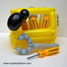What 'time is it? Tool Time!!! ~Tool Box Balloon Art