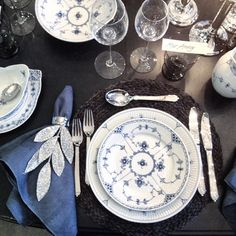 Table Setting by Ole Henriksen in Royal Copenhagen Flagship Store in Copenhagen