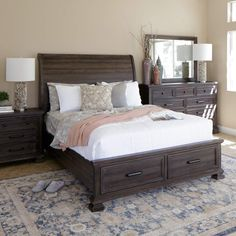The Grand Scale Of Wilmington Bedroom Collection Has A Commanding Presence 60