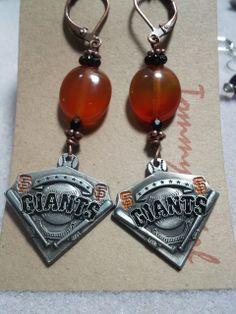 Go Giants earrings