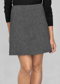 & Other Stories | Wool-Blend Skirt mini, grey
