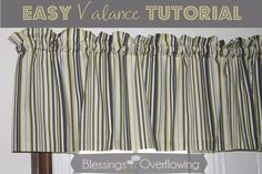 Making valances are a great beginning sewing project. Follow this tutorial to find out how.