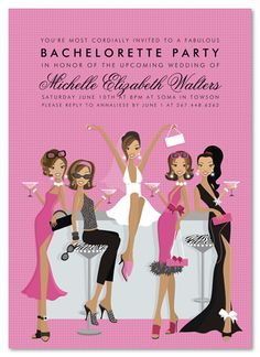 African American Bridal Shower Decorations | Bridal Shower Invitations Bachelorette Party Invitations Engagement ...