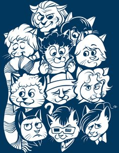 Doctor Who Cats (no longer available as a shirt) by Kari Fry.