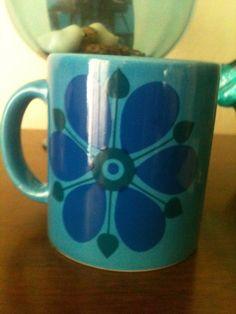 Waechtersbach W. Germany Blue Flower Mug. $15.59, via Etsy.